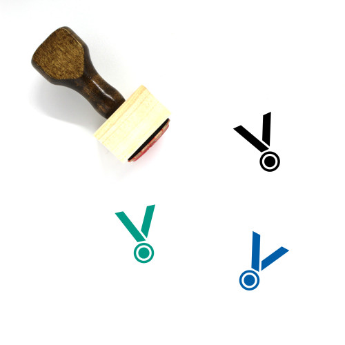 Silver Medal Wooden Rubber Stamp No. 1