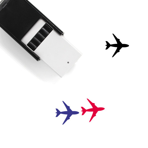 Airplane Self-Inking Rubber Stamp No. 34
