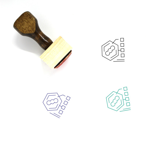 Bacteria Wooden Rubber Stamp No. 26