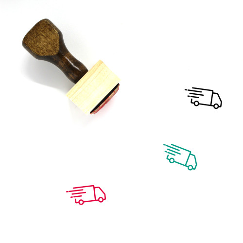Delivery Truck Wooden Rubber Stamp No. 24