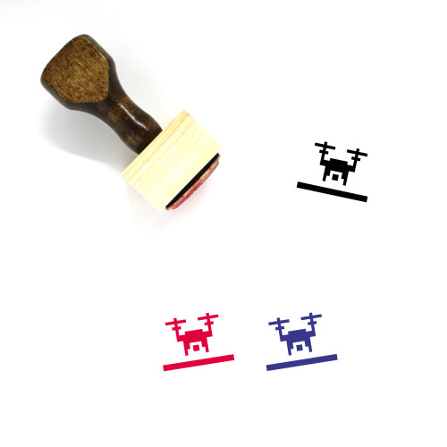 Drone Wooden Rubber Stamp No. 56