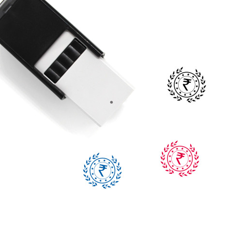 Rupee Coin Self-Inking Rubber Stamp No. 21