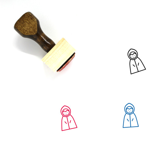 Raincoat Wooden Rubber Stamp No. 3