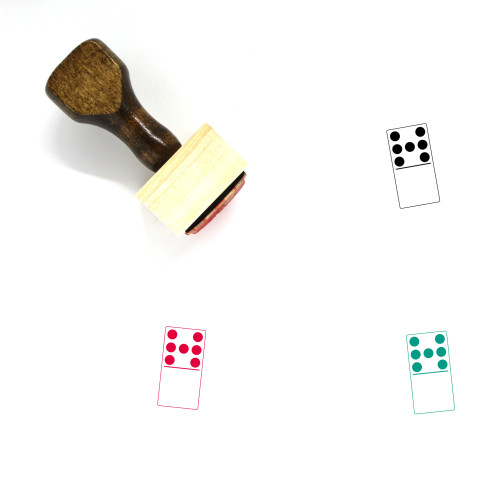 7 Blank Domino Wooden Rubber Stamp No. 1
