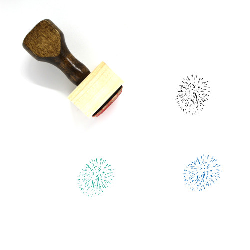 Fireworks Wooden Rubber Stamp No. 107