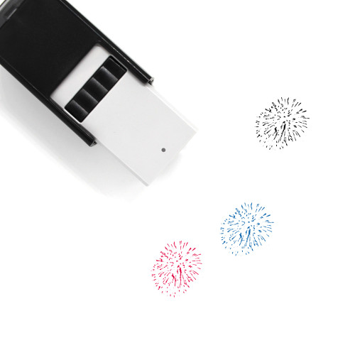 Fireworks Self-Inking Rubber Stamp No. 107