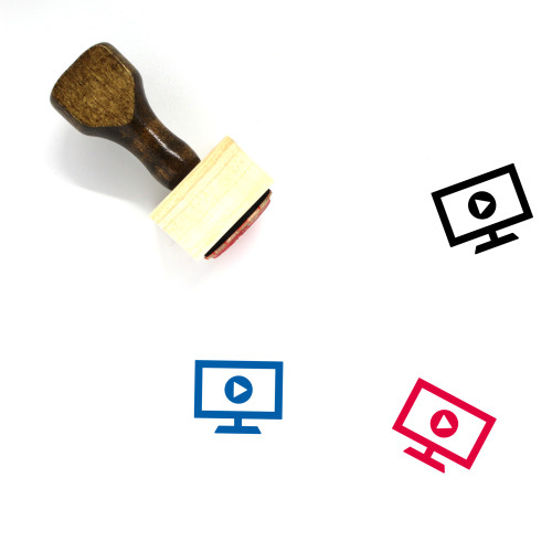 Television Wooden Rubber Stamp No. 100