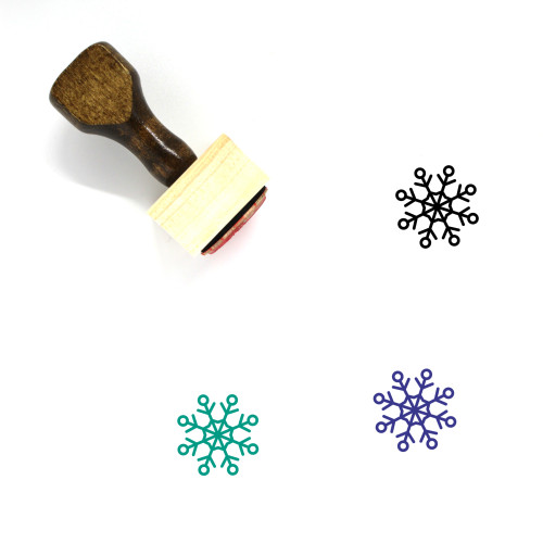 Snow Flake Wooden Rubber Stamp No. 17