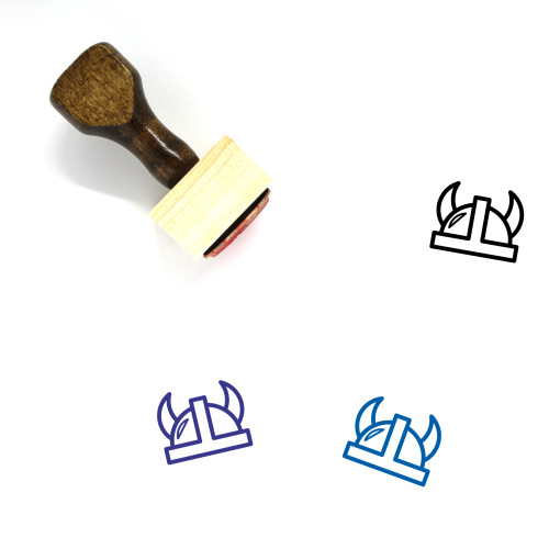 Viking Wooden Rubber Stamp No. 2