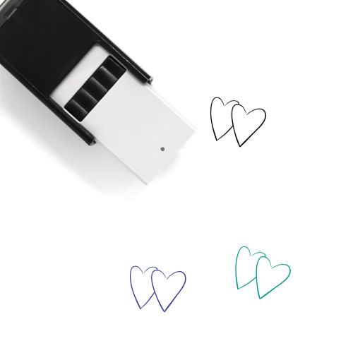 Two Hearts Self-Inking Rubber Stamp No. 15