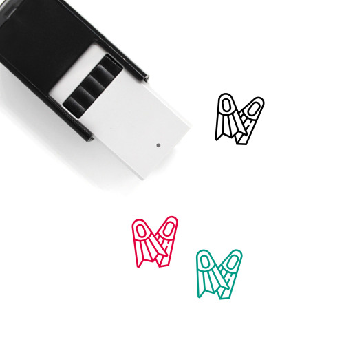 Diving Fins Self-Inking Rubber Stamp No. 10