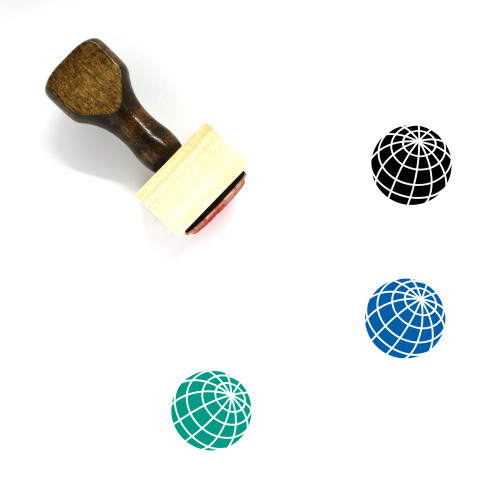 Globe Wooden Rubber Stamp No. 1194