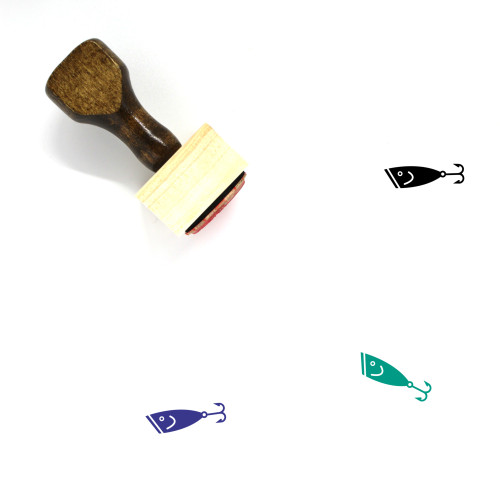 Fishing Lure Wooden Rubber Stamp No. 4