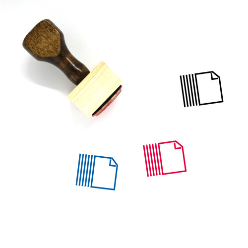 Paper Wooden Rubber Stamp No. 88