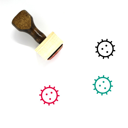 Bacteria Cell Wooden Rubber Stamp No. 1