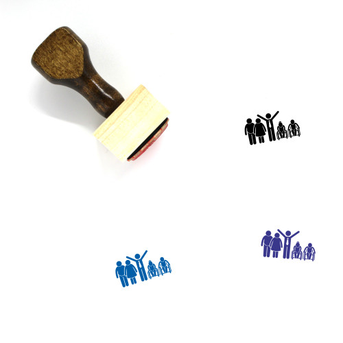 Family Of Different Generation Wooden Rubber Stamp No. 1