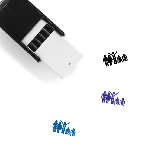 Family Of Different Generation Self-Inking Rubber Stamp No. 1