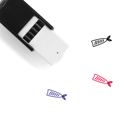 Fish Self-Inking Rubber Stamp No. 228