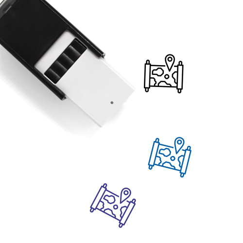 World Map Self-Inking Rubber Stamp No. 35