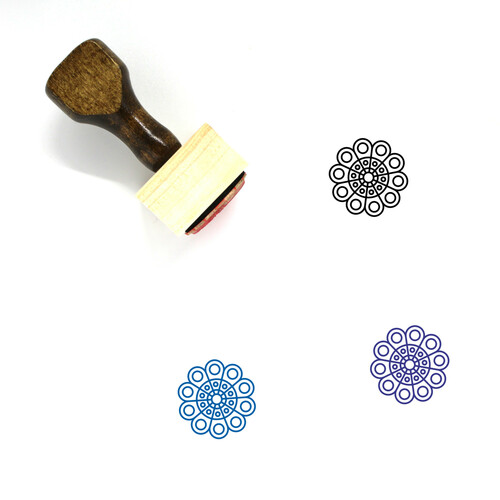 Doily Wooden Rubber Stamp No. 4