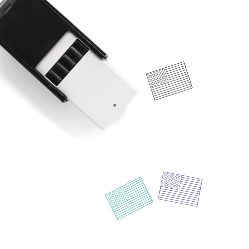 American Flag Self-Inking Rubber Stamp No. 12