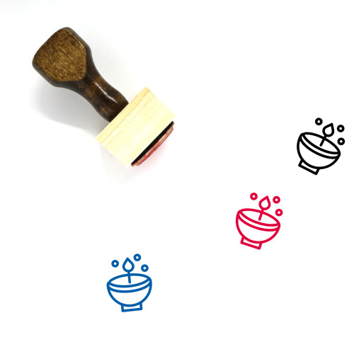 Celebrate Wooden Rubber Stamp No. 27