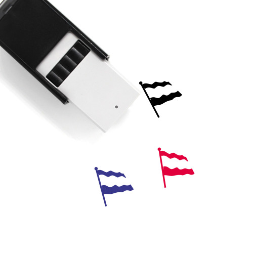 Dutch Flag Self-Inking Rubber Stamp No. 3