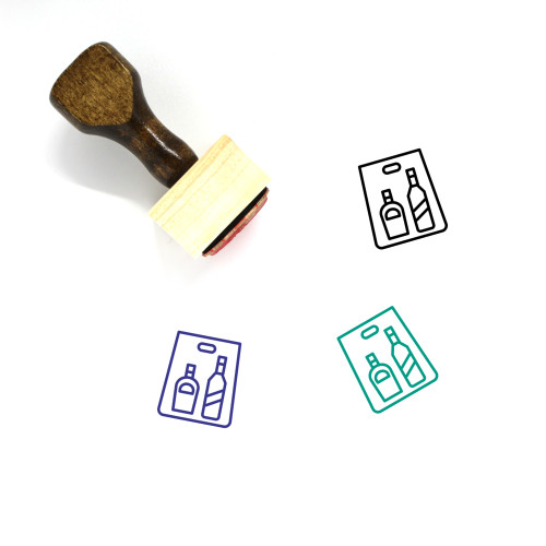 Alcohol Wooden Rubber Stamp No. 32