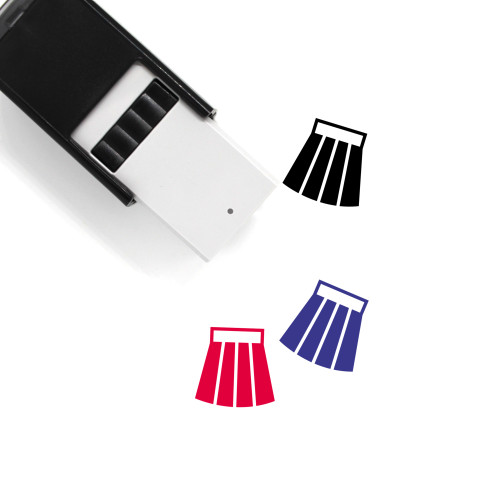 Skirt Self-Inking Rubber Stamp No. 66