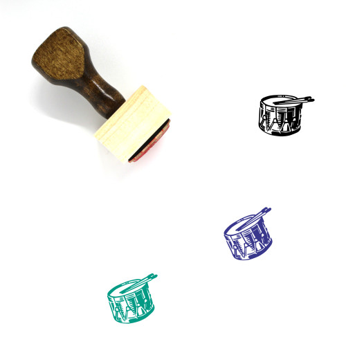 Drum Snare Wooden Rubber Stamp No. 1