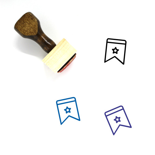 Star Wooden Rubber Stamp No. 786