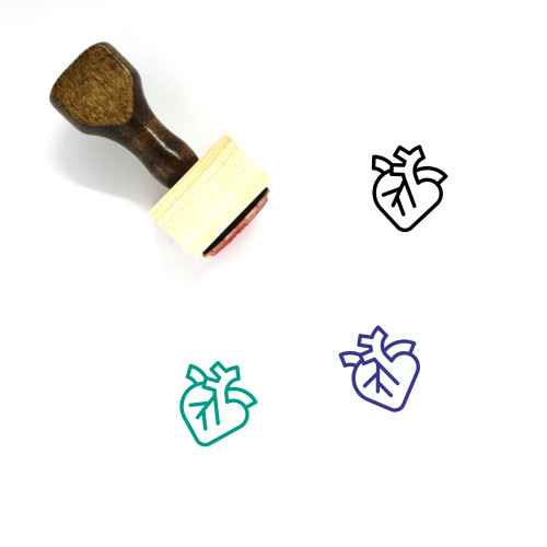 Heart Wooden Rubber Stamp No. 1413