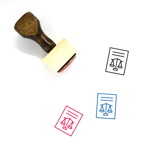Law Court Wooden Rubber Stamp No. 1