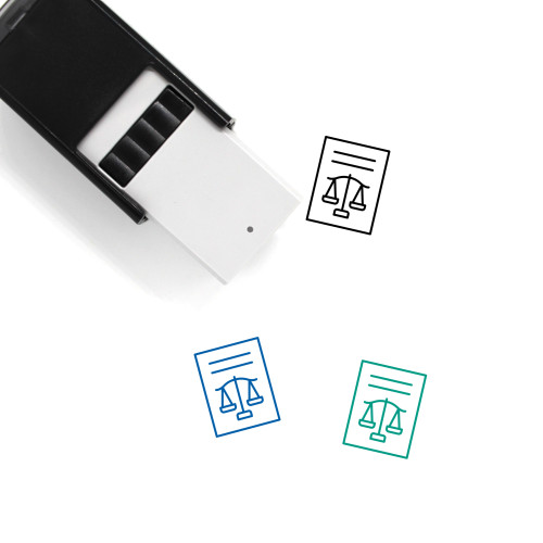 Law Court Self-Inking Rubber Stamp No. 1