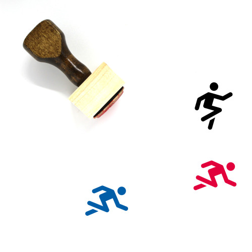 Runner Wooden Rubber Stamp No. 20
