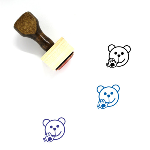 Wave Wooden Rubber Stamp No. 37