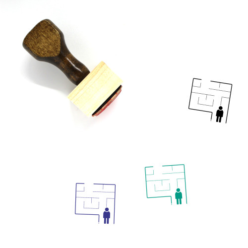 Evacuation Wooden Rubber Stamp No. 7