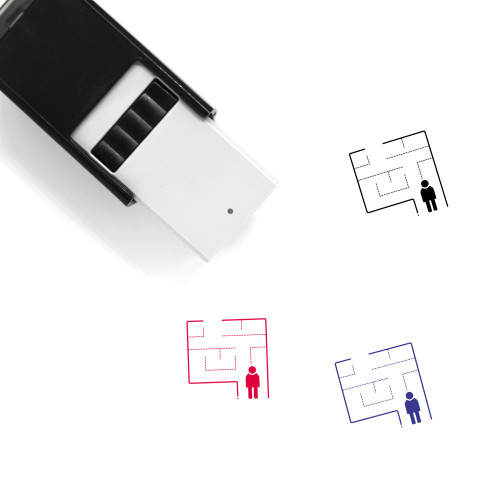 Evacuation Self-Inking Rubber Stamp No. 7