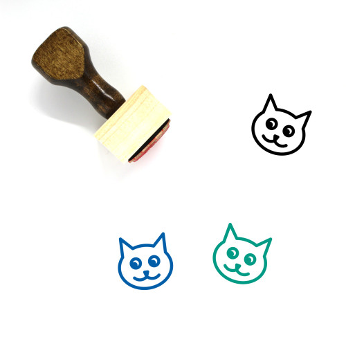 Cat Wooden Rubber Stamp No. 122