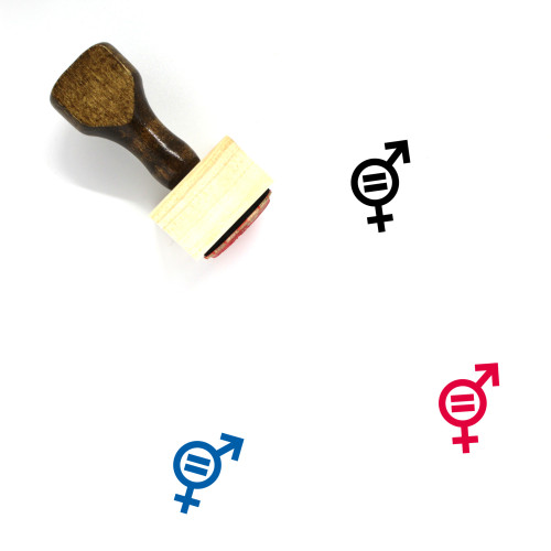 Gender Equality Wooden Rubber Stamp No. 28