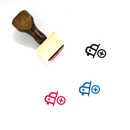 Add Car Wooden Rubber Stamp No. 2