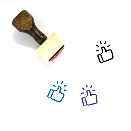 Thumbs Up Wooden Rubber Stamp No. 260
