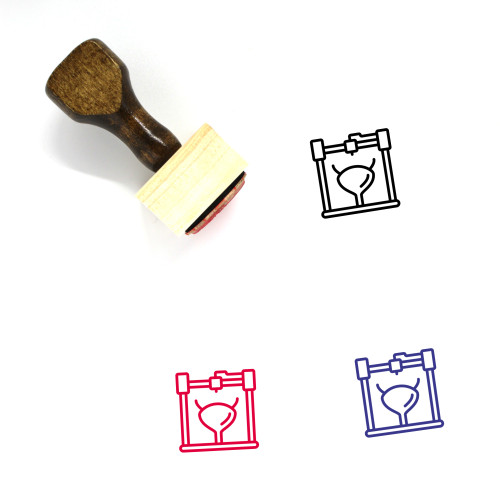 3D Bladder Wooden Rubber Stamp No. 2