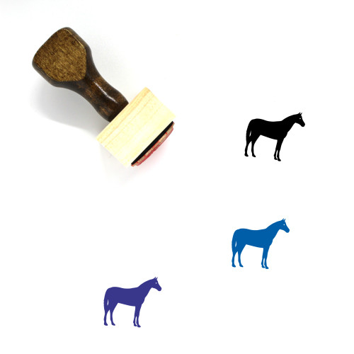 Horse Wooden Rubber Stamp No. 100