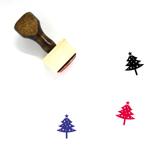 Christmas Tree Wooden Rubber Stamp No. 111