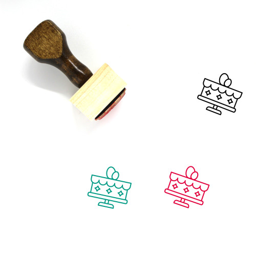 Easter Cake Wooden Rubber Stamp No. 28