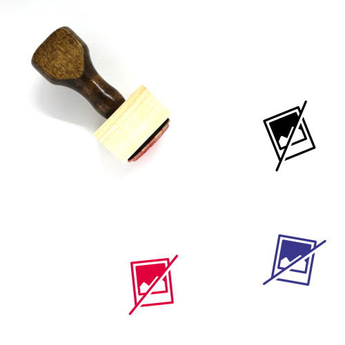 No Image Available Wooden Rubber Stamp No. 1