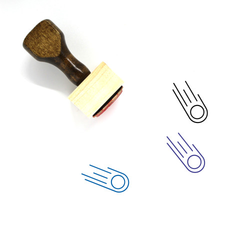 Meteor Wooden Rubber Stamp No. 4