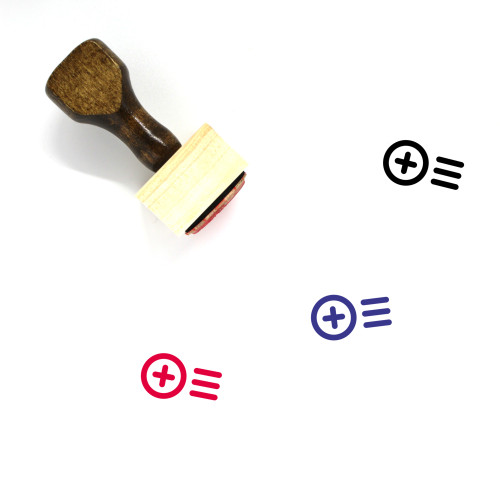 Add To Playlist Wooden Rubber Stamp No. 7