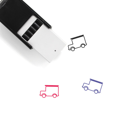 Fire Truck Self-Inking Rubber Stamp No. 27